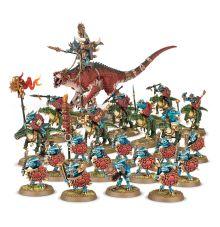 Warhammer /& Age of Sigmar Bits Lizard Men Serephon Banner /& Musician Spares