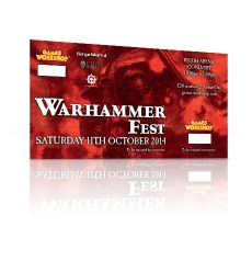 Warhammer Fest: Saturday 11th October 2014 Adult Ticket