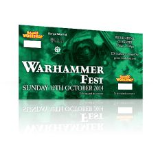 Warhammer Fest: Sunday 12th October 2014 Adult Ticket