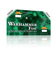Warhammer Fest Sunday 12th October 2014 Child Ticket (under 16)