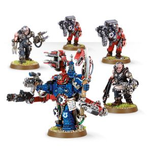 Techmarine with Servitors