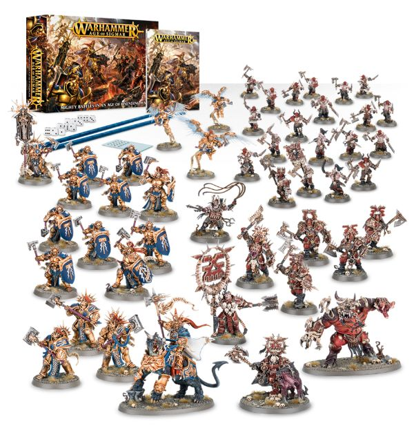 A picture of the Age of Sigmar starter set