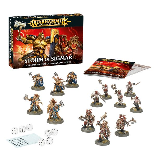 A picture of the Age of Sigmar starter set 'Storm of Sigmar'