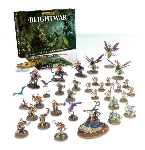 A picture of the Age of Sigmar starter set Blightwar