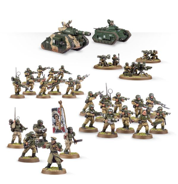 astra militarum cadians new in box warhammer 40k imperial guard etb