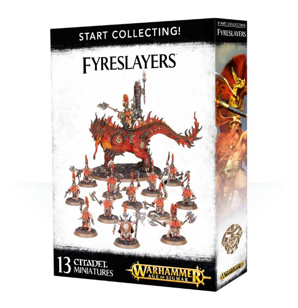 A picture of the Age of Sigmar Start Collecting box for Fyreslayers