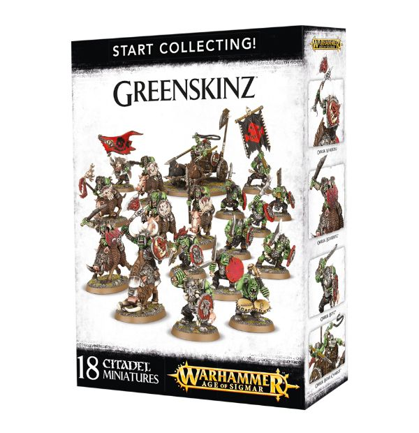 A picture of the Age of Sigmar Start Collecting box for Greenskinz