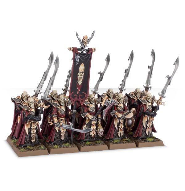 Warhammer AOS Dark Elves Elf Aelf Drakespawn Knights Cold One and Base D B7 F