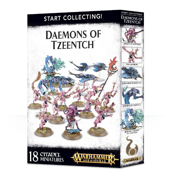 A picture of the Age of Sigmar Start Collecting box for Daemons of Tzeentch