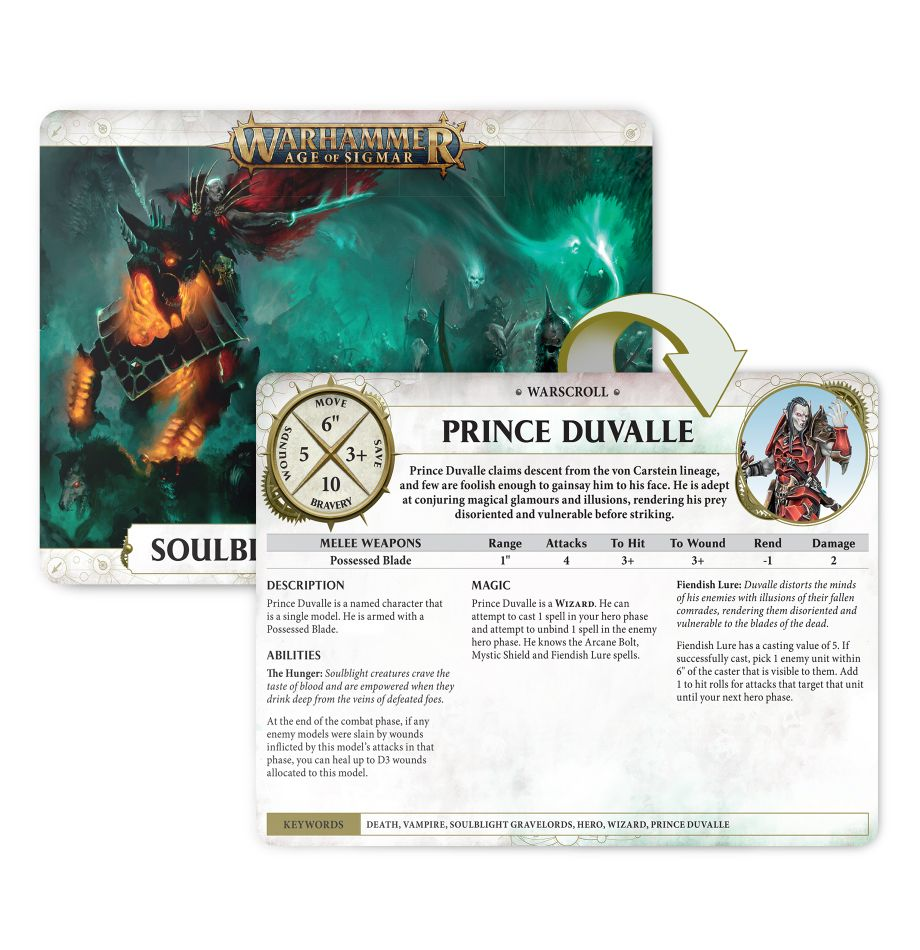 GAME STATE Singapore Warscroll Cards: Soulblight Gravelords