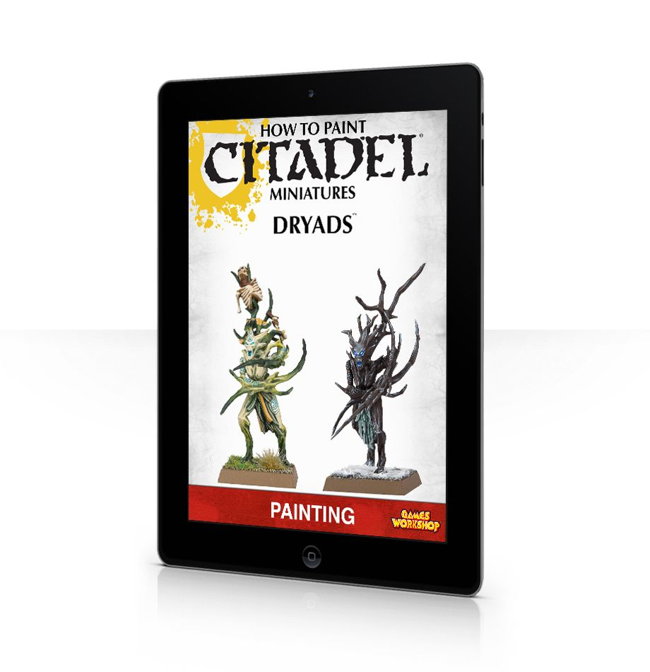 How to paint citadel miniatures dryads book cover and