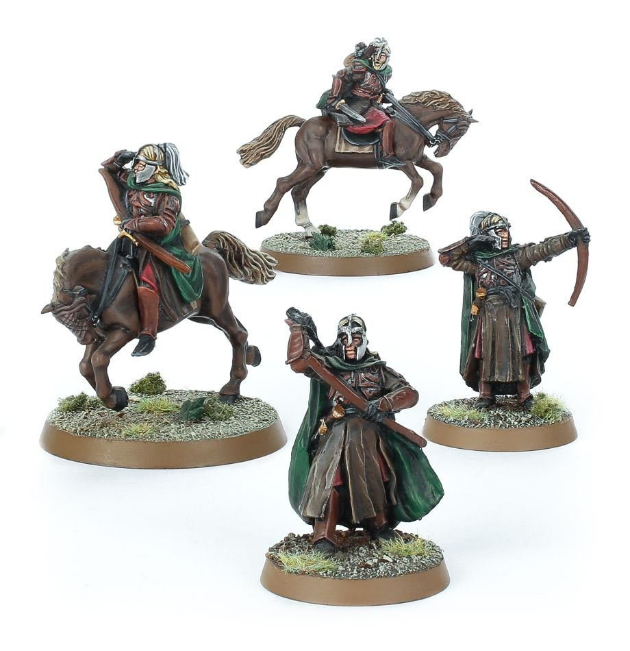 Lord of  the rings middle earth metal Gamling with royal standard mounted