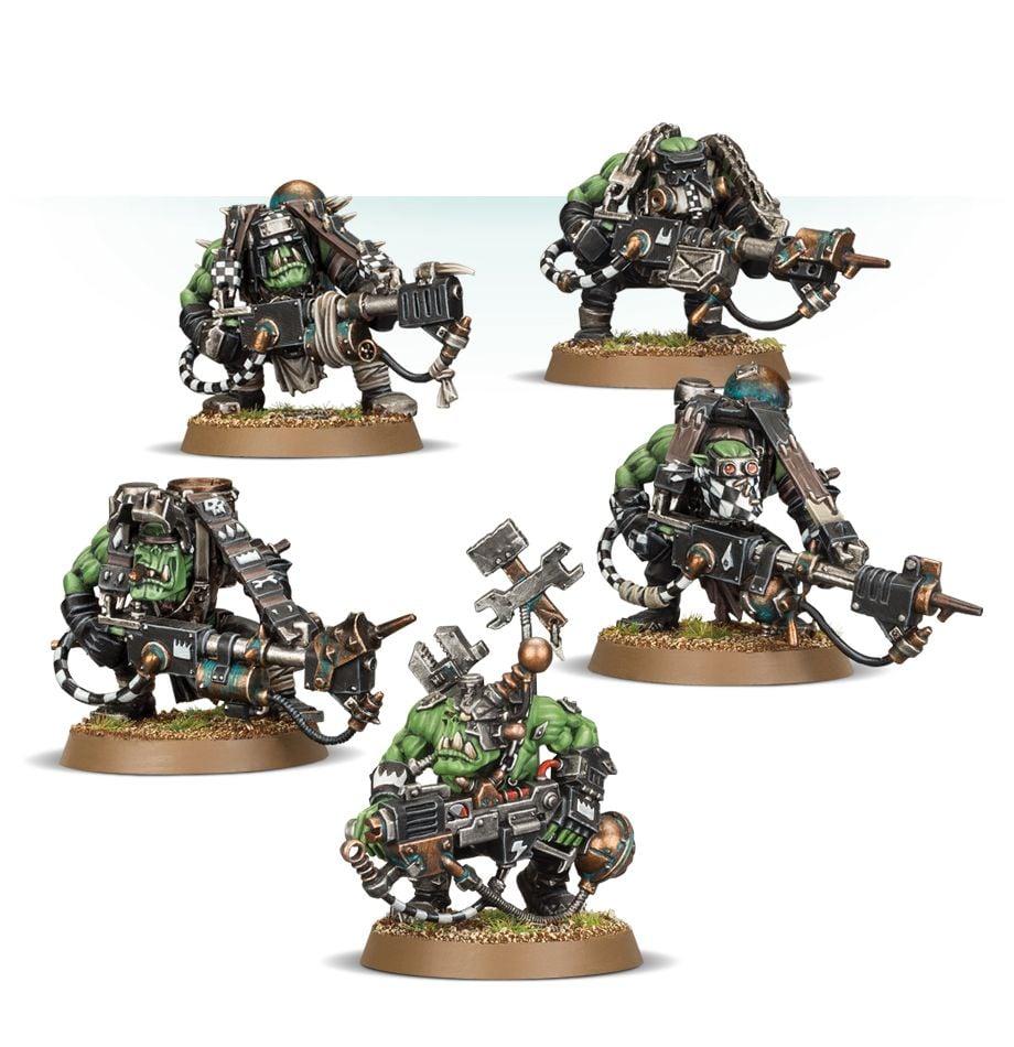 Ork Boyz HEADS x 5 40K