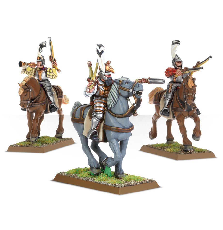 Warhammer AOS Empire Free Peoples Pistoliers Outriders Horse C K9