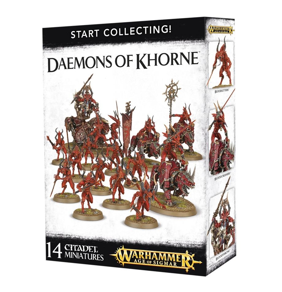 10 Bloodletters of Khorne Chaos Daemons Warhammer 40,000 40k Age of Sigmar GW