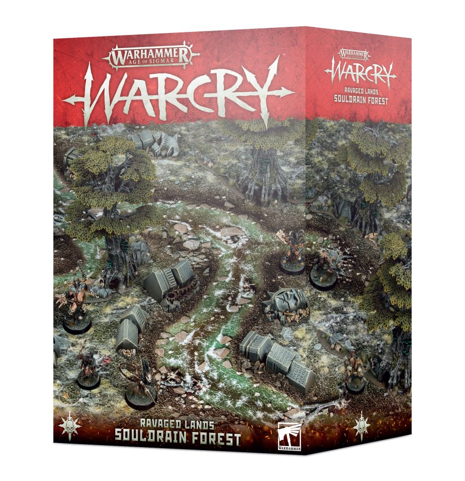 The warcry terrain from the souldrain forest box
