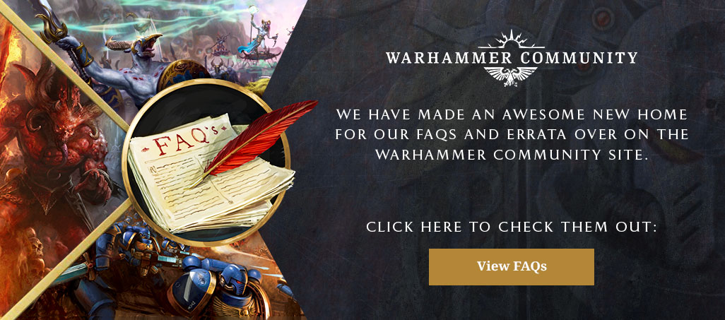 Warhammer Community FAQ