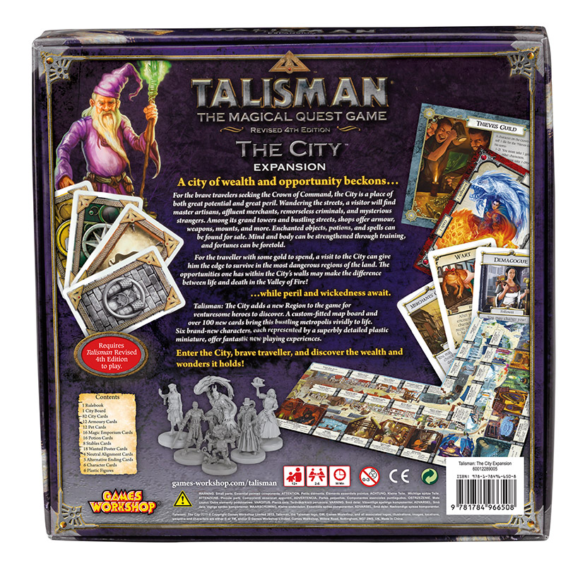 Talisman: The Dragon box back