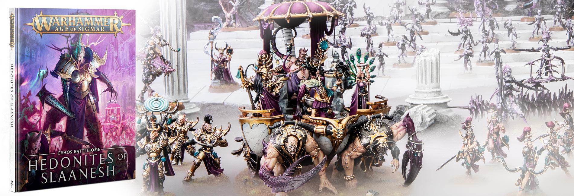 Hedonites of Slaanesh Warscroll Cards OOP